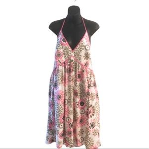 New York & Company Dresses - NY & Co Floral Pink Halter Dress